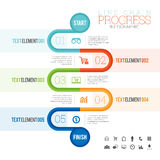 Line Chain Progress Infographic Royalty Free Stock Images
