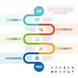 Line Chain Progress Infographic