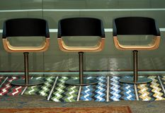 Line of chairs Royalty Free Stock Photo