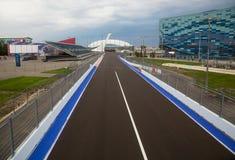 Line of championship Formula 1 in Sochi in Olmpijsky park Royalty Free Stock Image