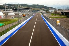 Line of championship Formula 1 in Sochi in Olympic park against Stock Image