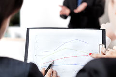Line chart analysis Stock Images