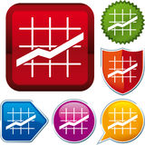 Line chart icon Royalty Free Stock Photos