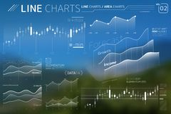 Line Charts and Area Charts Infographic Elements. Corporate Infographic Elements is an excellent collection of vector graphs, charts and diagrams stock illustration