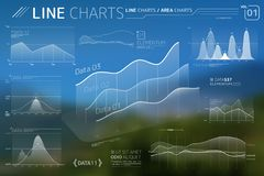 Line Charts and Area Charts Infographic Elements. Corporate Infographic Elements is an excellent collection of vector graphs, charts and diagrams vector illustration