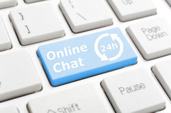 On-line chat key on keyboard Royalty Free Stock Photography