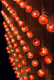 Line of chinese lanterns hanging for new year festival Royalty Free Stock Photo