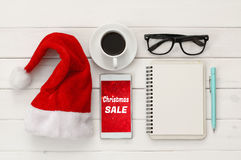 On line christmas holiday shopping concept.  Stock Image
