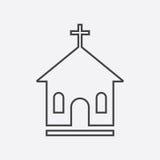 Line church sanctuary vector illustration icon. Simple flat pict Stock Image