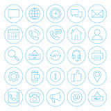 Line Circle Contact Us Icons Royalty Free Stock Photography