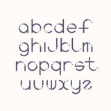Line and circle latin font Royalty Free Stock Photography