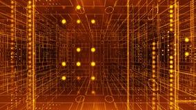 Line circle light 3d pan technology background 4K LOOP vector illustration