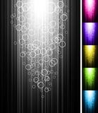 Line with circles shine vertical background. Abstract glowing vector illustration Royalty Free Stock Photography