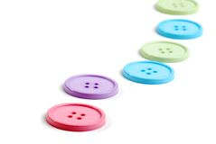 Line of clothing buttons Royalty Free Stock Image