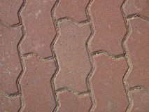 Line on cobblestone Royalty Free Stock Photo