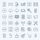 Line Coding Icons Royalty Free Stock Photo