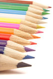 Line of colored pencils Royalty Free Stock Photos