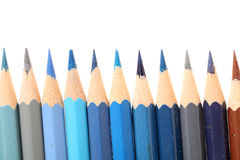 Line of colored pencils Royalty Free Stock Photo