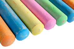 A line of colorful chalk. Royalty Free Stock Image