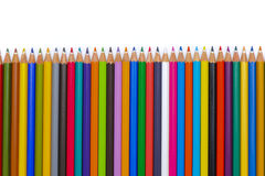 Line of colorful pencil Stock Photo