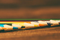 Line of colorful pencils Royalty Free Stock Image