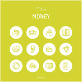 Line colorfuul icons set collection of Money and Banking Stock Photography