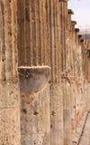 Line of Columns in Pompeii Stock Photo