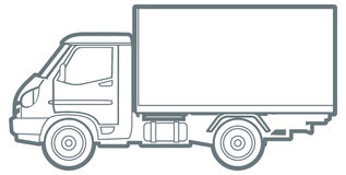 Line commercial truck Stock Images