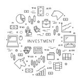 Line concept of online trading Stock Image