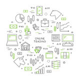 Line concept of online trading Stock Photo