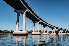 Line of Concrete/Steel Girders Supporting the Coronado Bridge Royalty Free Stock Images