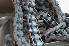 Line Conveyor old Industrial Or manufacturing industry Royalty Free Stock Photos