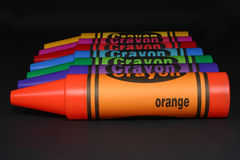 Line on crayons Royalty Free Stock Photos