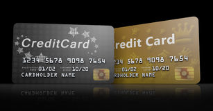 Line of Credit Cards Royalty Free Stock Photos