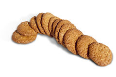 Line Of Crispy Homemade Cookies Royalty Free Stock Photography