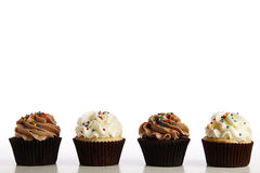 Line of Cupcakes Royalty Free Stock Images