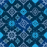 Line curl symmetry seamless pattern Stock Photography