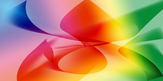 Colorful Curve Line Abstract and Texture Background Design Stock Photography
