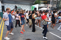 Line Dance at the Festival Stock Photo