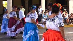 Line Dance in Merida Yucatan stock video footage