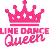 Line dance queen. Vector sports stock illustration