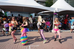 Line Dancing Women Royalty Free Stock Photography