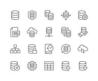 Line Database Icons Stock Photos