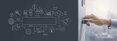 On-line-Datenspeicherungszugang und Archivkonzept stockfoto