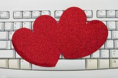 On-line-Datierung stockfotografie