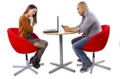On-line-Datierung lizenzfreies stockbild