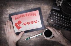 On-line-Datierung auf einer Tablette vektor abbildung