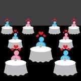 On-line-Datierungs-Hintergrund Stockfoto