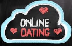 On-line-Datierungs-Konzept Lizenzfreies Stockbild