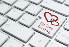 On-line-Datierungs-Konzept Lizenzfreie Stockfotografie